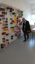 AAEX Postcard Project - Installation of returned Postcards - Creative Spark, Dundalk, 20th May 2017 - National Drawing Day